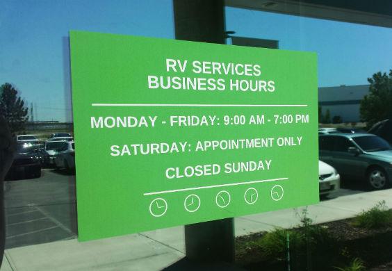RV Window Decals