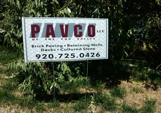 PAVCO Yard Sign