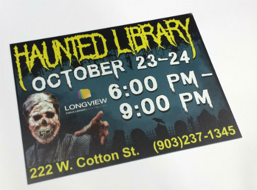 Haunted Library Yard Sign