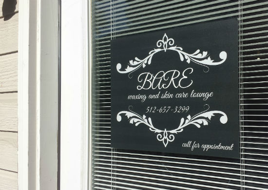 Opaque Beauty Parlor Decal
