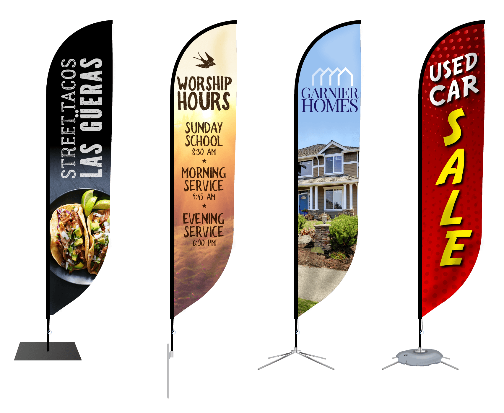 Custom Feather Flag Banners | Signs com