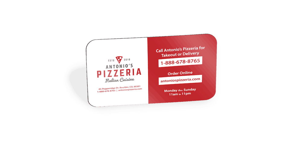 Promotional Magnets - Pizzeria Angled Optimized