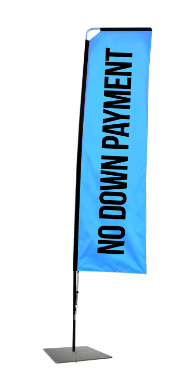 Rectangle Flag Banner No Down Payment