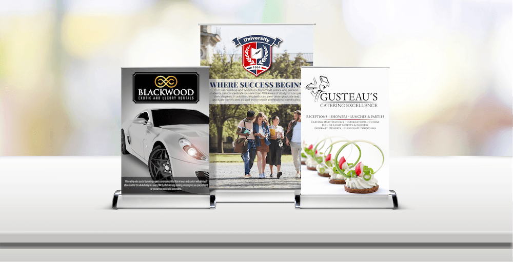 Table Top Retractable Banners | Signs com