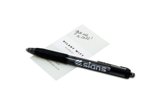 Writing On a Business Card