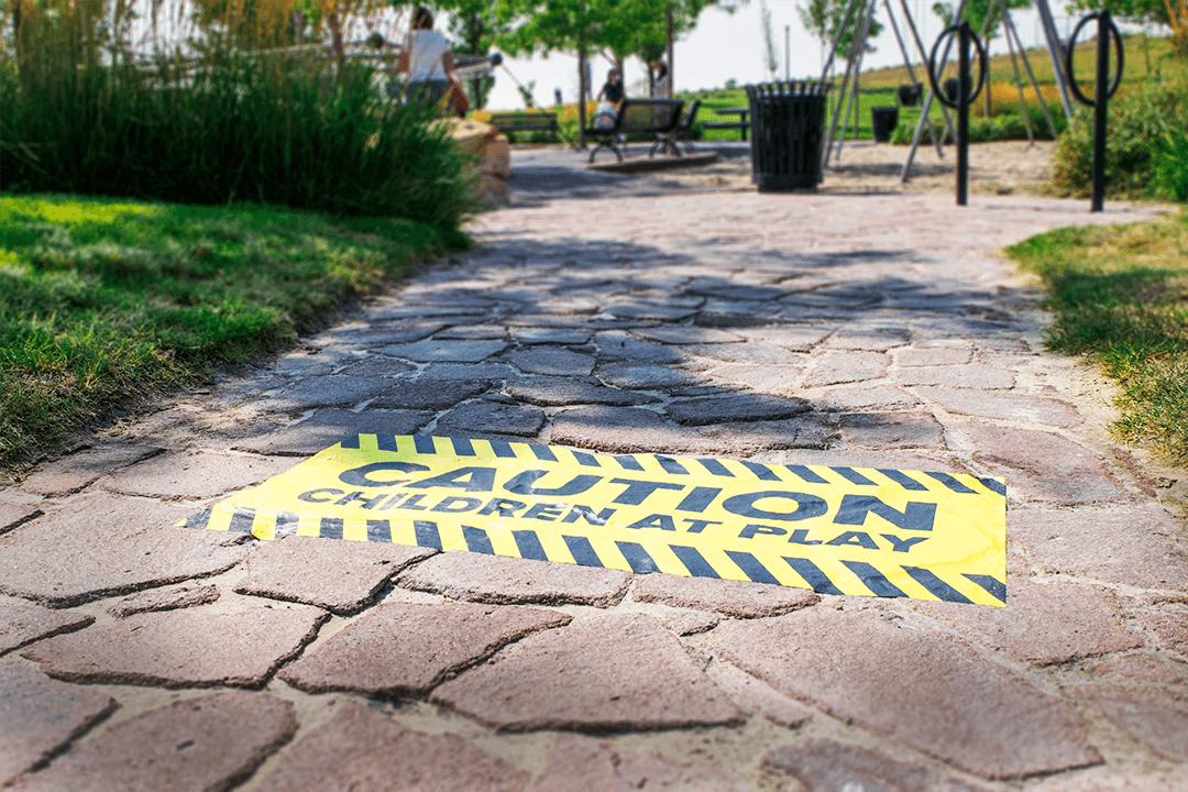 Custom Street and Sidewalk Decals & Stickers | Signs com