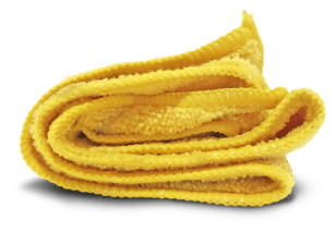 yellow washcloth