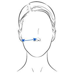 Face Mask Width Measurement
