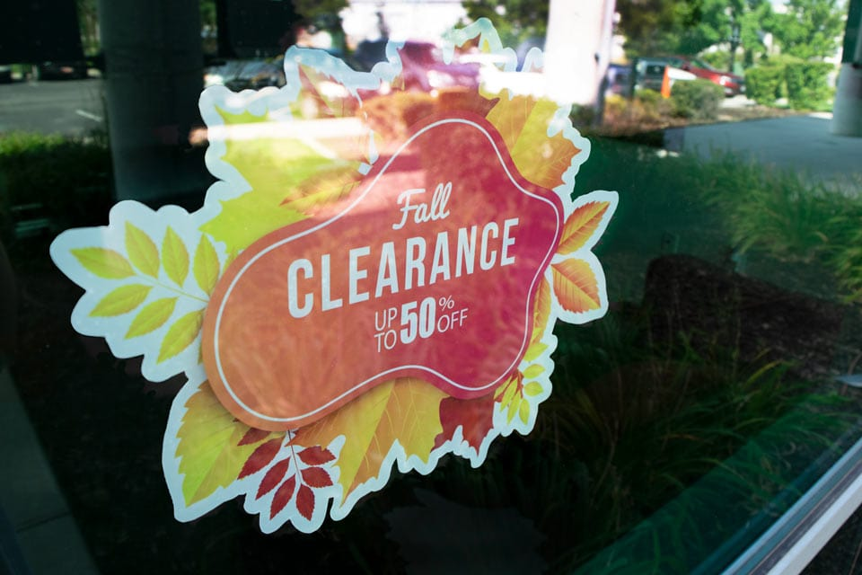 Inside Glass Display Option for Opaque Window Cling