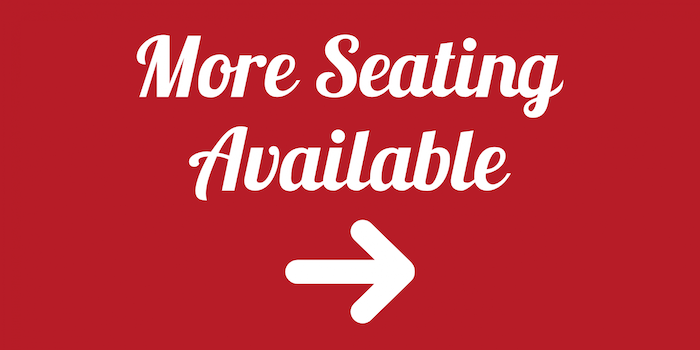 More seating available