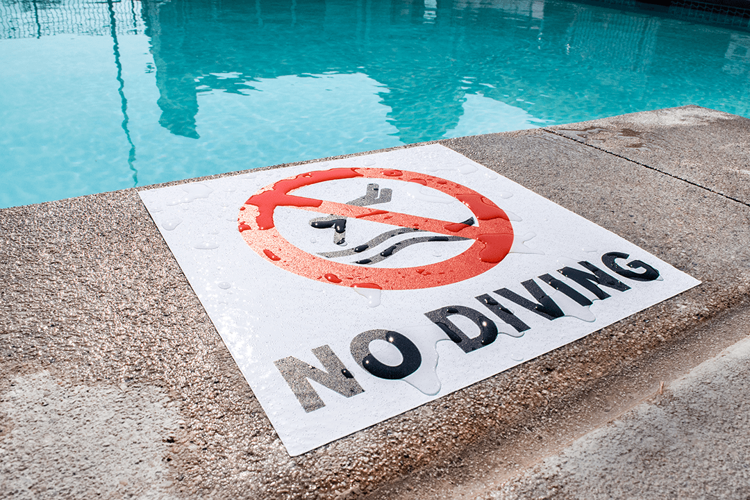 Street and Sidewalk No Diving