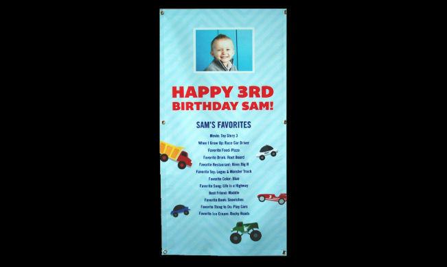 Sam Birthday Banner