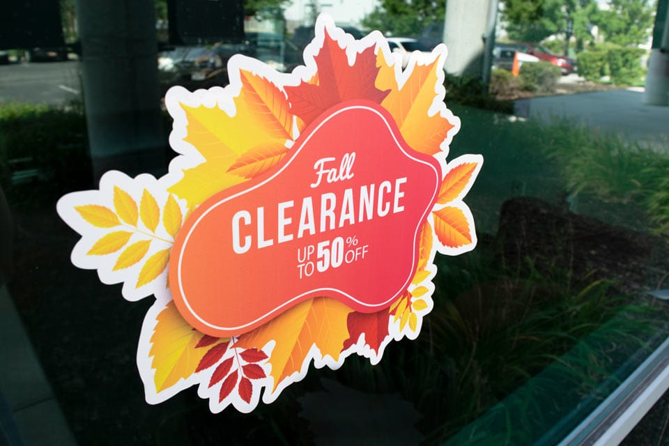 Standard Display Option for Opaque Window Cling