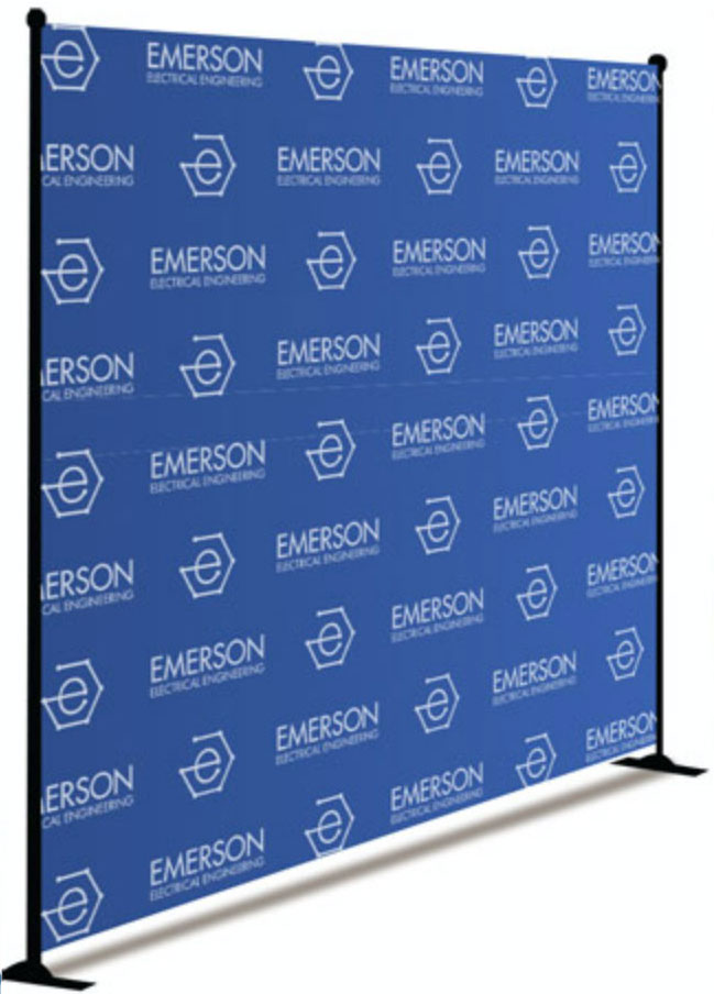 Tradeshow step and repeat banner