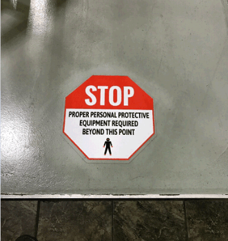 Stop Floor Decal