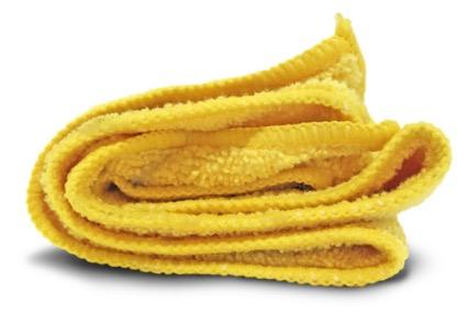 Yellow micro-fiber cloth